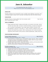 Objective For Resume For Nursing