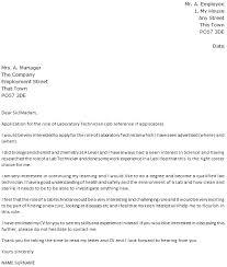 laboratory technician cover letter tech cover letter