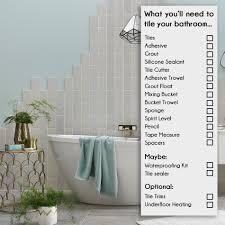 bathroom iling checklist
