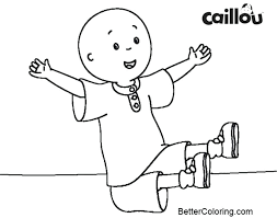 Caillou Cartoon Coloring Pages Printable Pdf Awesome Free Printabl ...