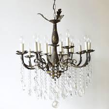 large vintage french 16 light brass chandelier for at pamono with popular vintage brass chandeliers