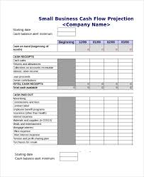 Sales Projection Format In Excel Cash Flow Projection Template Excel Cash Budget Template Cash