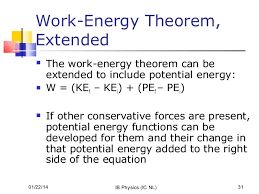 Physics Work Energy Theorem