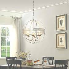 orb 6 light distressed silver chandelier free intended for small