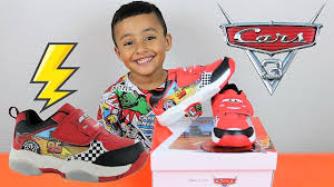 Cars Light Up Shoes Cars 3 Lightning Mcqueen Light Up Sneakers Flash Trainers Led Shoes Disney Pixar