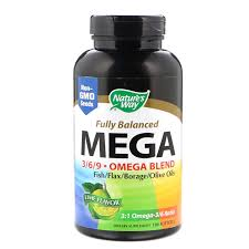 <b>Fully Balanced Mega 3/6/9</b>, Omega Blend, Lime Flavor, 180 Softgels ...