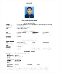 Formal Curriculum Vitae Format Filename Junio Relitetri