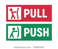 pull door sign. Simple Pull Push And Pull Signs On Doors Vector Illustration To Door Sign