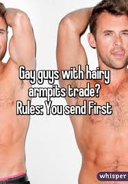 Hairy armpits gay men