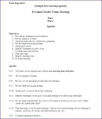 Simple Meeting Agenda Template Solacademy Co