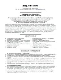 Sourcing Manager Resume Procurement Resume Format Supply Chain