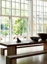 zen furniture design. table and benches donna karan urban zen collection furniture design
