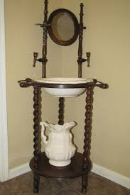 image detail for antique wooden wash stand w pottery pitcher washbasin for