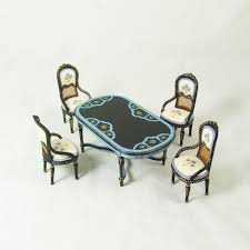 8019 hansson black and blue dining room set 5 pieces asian dining room sets 1