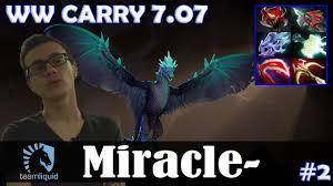 miracle winter wyvern mid ww carry 7 07 ultra kill dota 2
