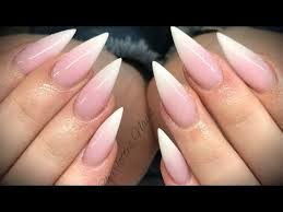 pink white. Acrylic Nails - Pink \u0026 White Ombré