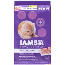 Iams Kitten Feeding Chart Iams Proactive Health Kitten 1 Dry Cat Food 16 Pound Bag With Real Chicken