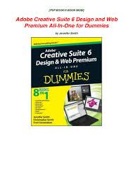 Adobe Design Premium 6 Pdf Adobe Creative Suite 6 Design And Web Premium All In One