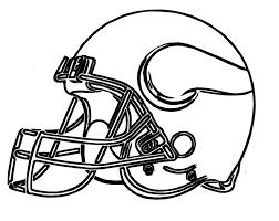Football Helmet Vikings Minnesota Coloring Pages Kinder Social