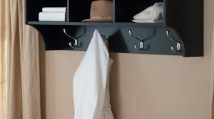 Wall Mounted Coat Rack With Hooks And Shelf shelf Amazing Hat And Coat Rack With Shelf TIDY Wall Mounted Coat 39
