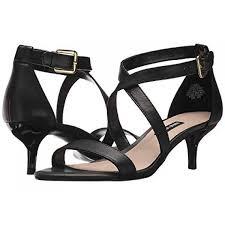Nine West Xaeden Strappy Heel Sandal Black Leather 9073057