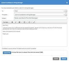 Sending Resume Via Email Template