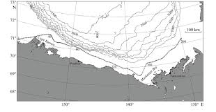 Bathymetric Chart Of Beaufort Sea With Highlighted 50 M