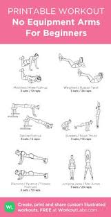 no equipment arms for beginners my visual workout created at workoutlabs