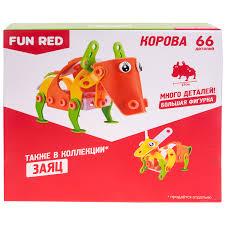 конструктор fun red корова 66 деталей
