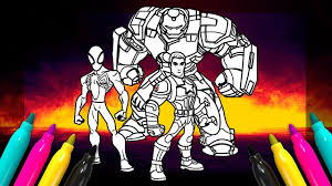 This is the only disney infinity game available for wii. Disney Infinity Avengers Hulkbuster Captain America Spiderman Coloring Page Youtube