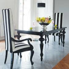 incredible black dining room chairs black and white dining room set
