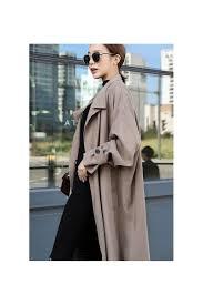beige long trench coats