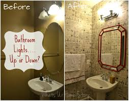 Vanity Light Up Bathroom Lights Up Or Down Whats Ur Home Story