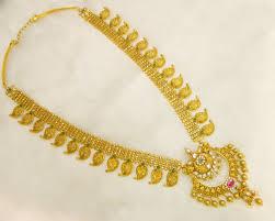 Gold Long Necklace Designs In 35 Grams Long Bridal Mango Haram