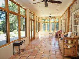 Rustic Porch With Exterior Tile Floors  Exterior Terracotta Tile - Exterior transom window