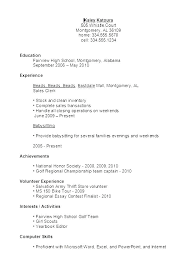examples of a simple resume resume examples high school graduate