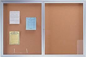 enclosed bulletin board clear doors cabinet outdoor boards canada