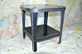 wood and iron end table white metal end table wood metal end table and iron end wood and iron end table