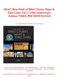 Bible Charts Best Rose Book Of Bible Charts Maps Time Lines Vol 1