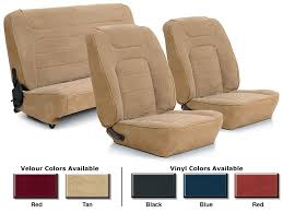 velour and vinyl seat reupholstery kits br front low back bucket seats and rear