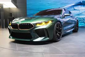 BMW Concept M8 Gran Coupe a Low and Mean, Greenish-Gray Flagship ...