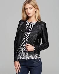 Michael michael kors Faux Leather Quilted Moto Jacket in Black   Lyst & Gallery Adamdwight.com