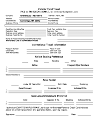 travel profile traveler profile form fill out and sign printable pdf
