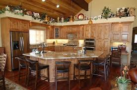 kitchens decorating ideas. Rustic Country Kitchen Decor Idea With Black Chairs And Wooden Cabinet Kitchens Decorating Ideas