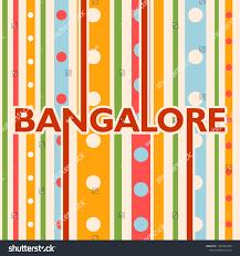 Design Theme Bangalore Image Relative India Travel Theme Bangalore Stock Vector