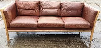 mid century leather sofa 1960s 1