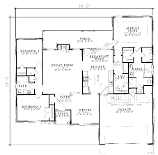 One Story Ranch Style House Plan Needs About 500 Sq Ft More But I House Plans Ranch