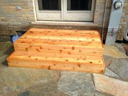 wood patio steps step idea like the larger first out