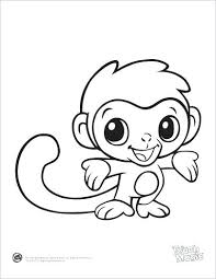 Cute Baby Coloring Pages Baby Coloring Books And Baby Monkey