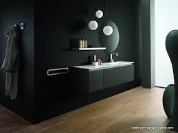 black bathroom. Black Bathroom Vanity, Bathtubs, Sink, Mirrors, Black, Black,black Everything That One Could Imagine Is Black. T